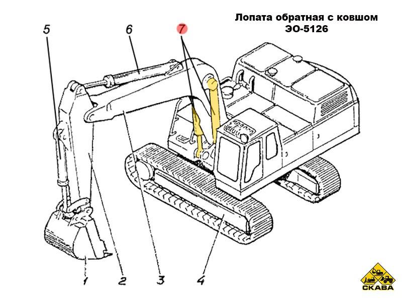 Гидроцилиндр стрелы Э4.05.30.005сб-1