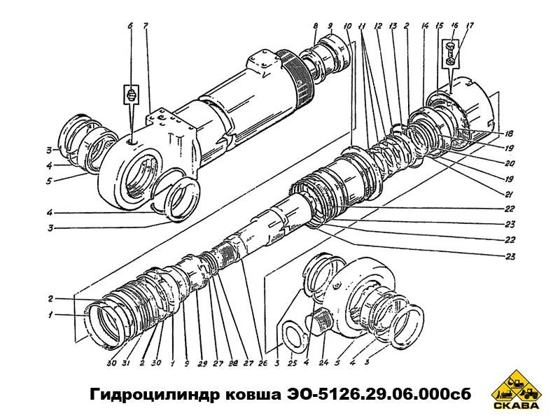 Гидроцилиндр ковша 5126.29.06.000