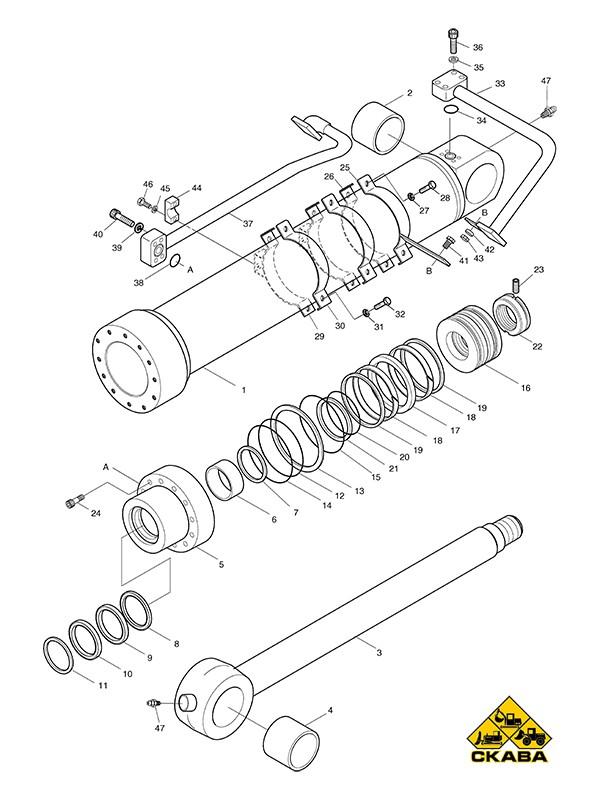 Гидроцилиндр ковша 2440-9294