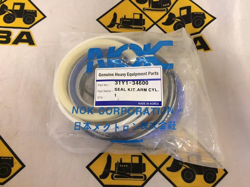 Ремкомплект гидроцилиндра рукояти 31Y1-34600 Hyundai R-160-9, R-170-9, R180-9