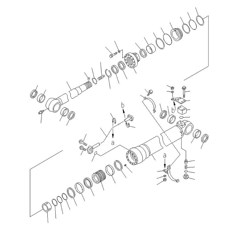 Гидроцилиндр рукояти 707-01-0A371 PC-220-7